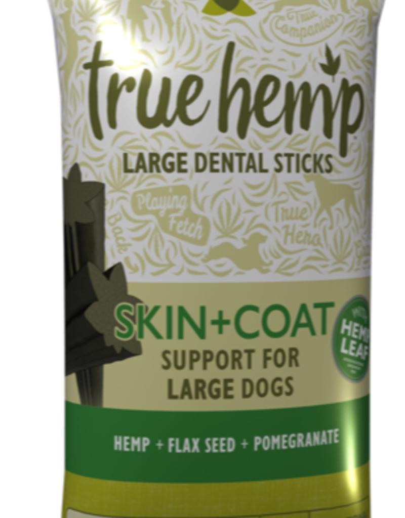True Hemp True Hemp Skin & Coat Dental Sticks For Large Dogs, 5 sticks, 125g sticks