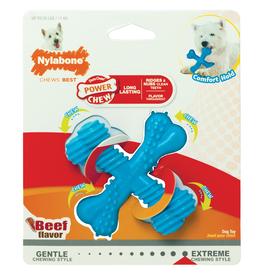 Nylabone Extreme Chew X Bone Dog Toy Beef, Large