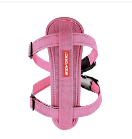 EzyDog Chest Plate Dog Harness with Seat Belt Loop, Pink