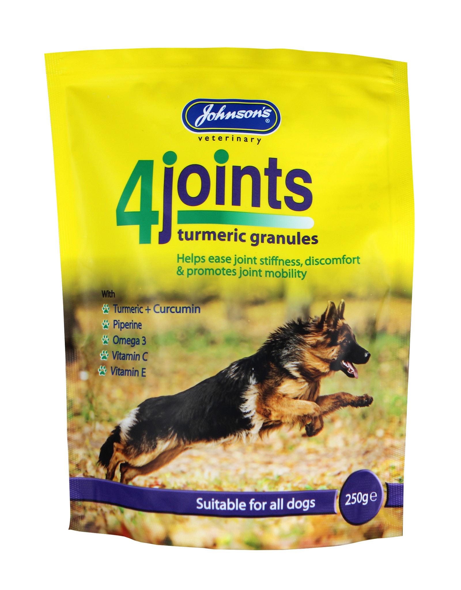Johnsons Veterinary 4Joints Turmeric Granules Joint Supplement for Dogs, 250g