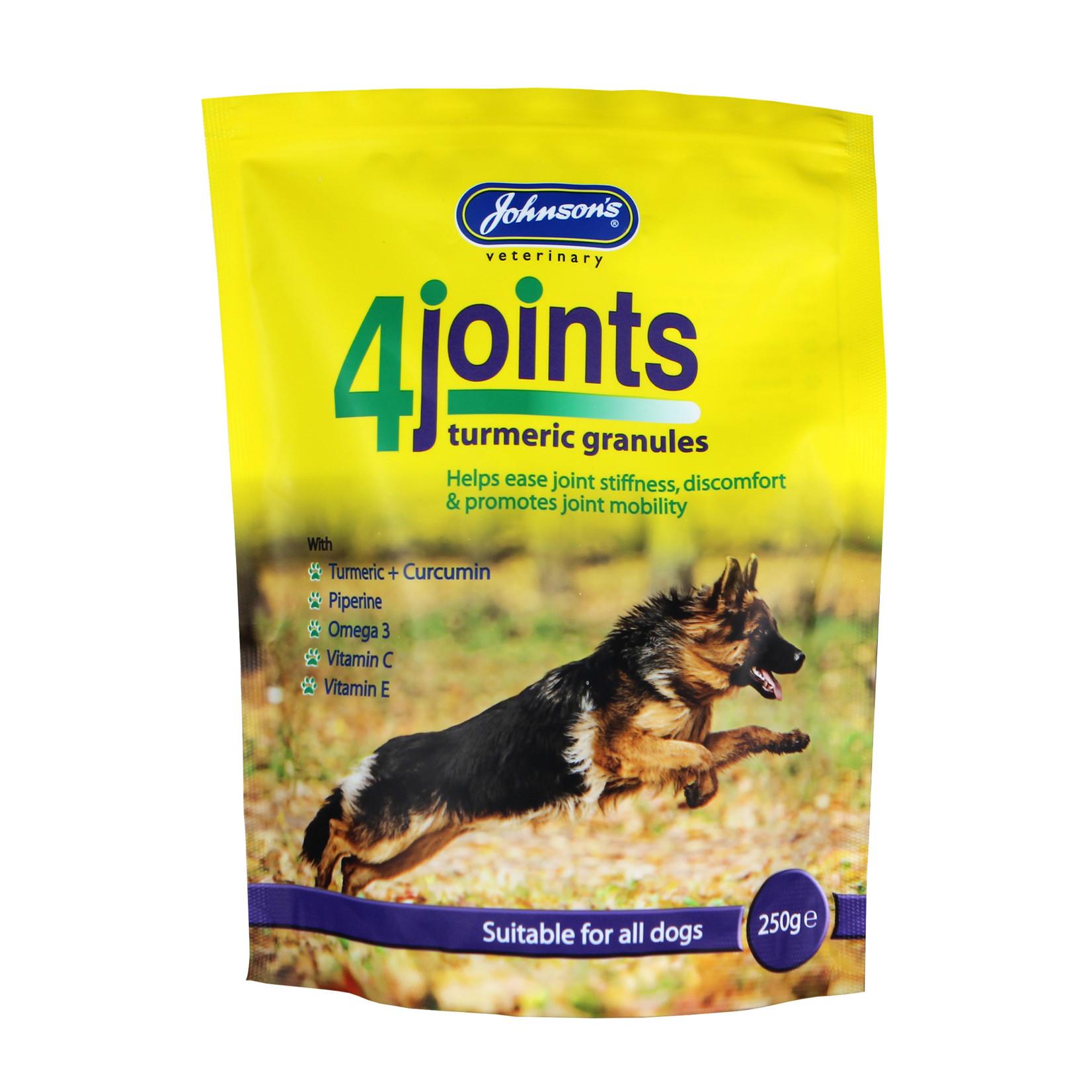 Johnson's Veterinary 4Joints Turmeric Granules Joint Supplement for Dogs, 250g