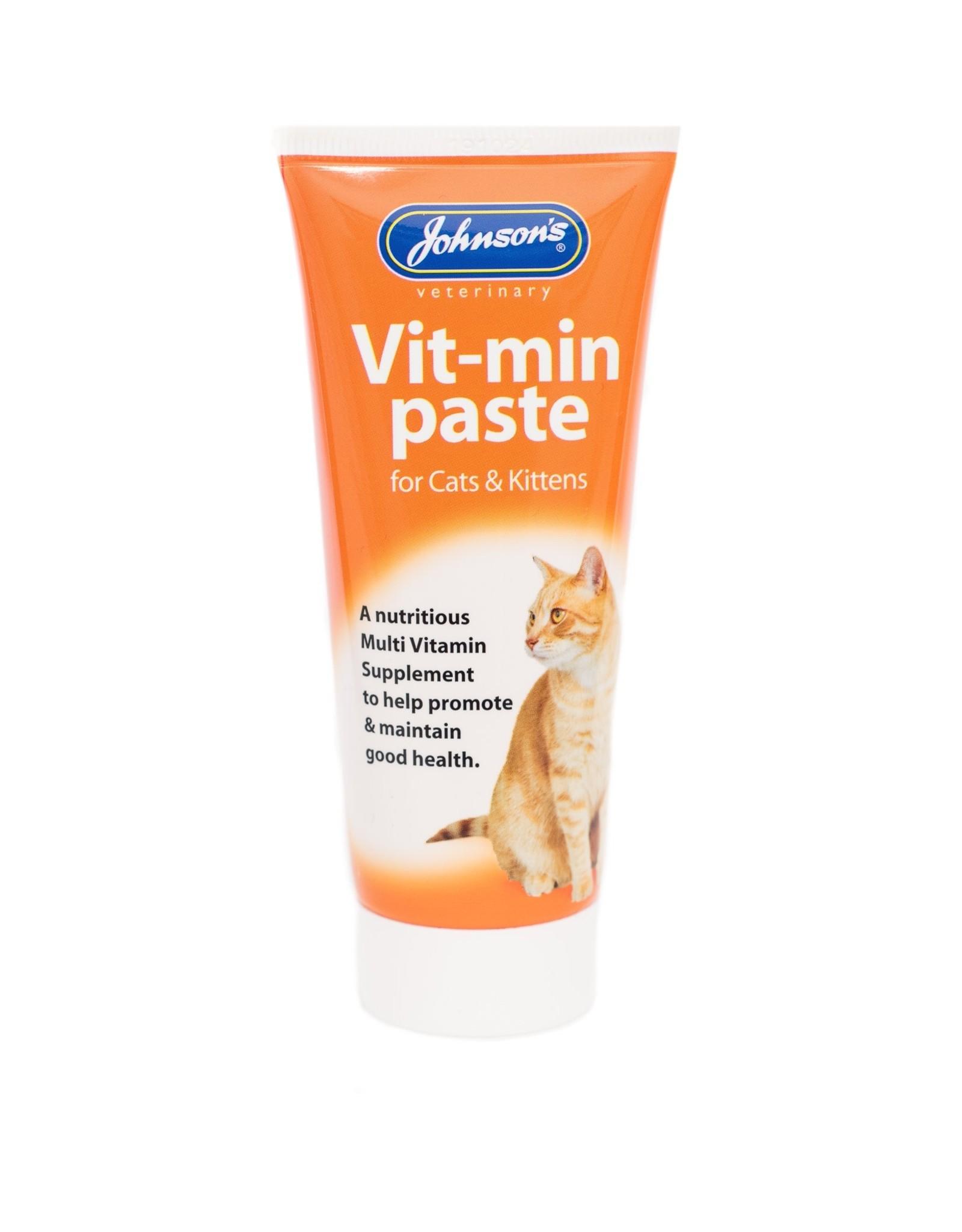 Johnsons Vit-Min Paste Multi-vitamin Daily Supplement for Cats & Kittens 50g