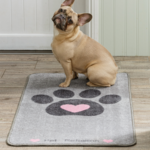 Pet Rebellion Stop Muddy Paws Big Paws Floor Mat, Heart 57x110cm