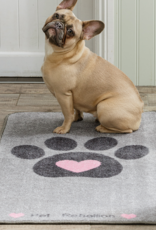 Pet Rebellion Stop Muddy Paws Big Paws Floor Mat, Heart 57x110cm