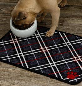Pet Rebellion Dinner Mate Large Absorbent Food Mat, Tartan 40x60cm