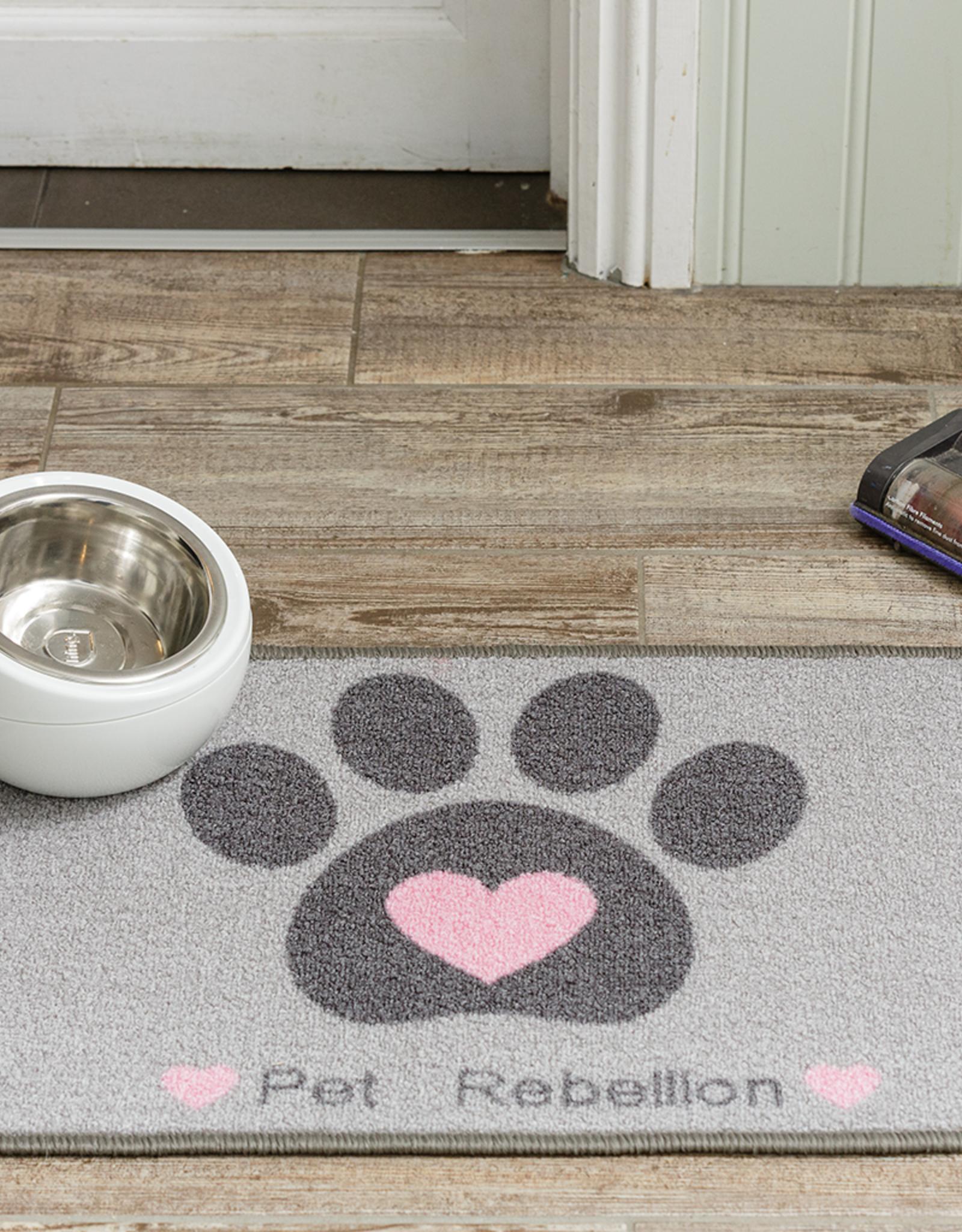 Pet Rebellion Dinner Mate Large Absorbent Food Mat, Heart 40x60cm