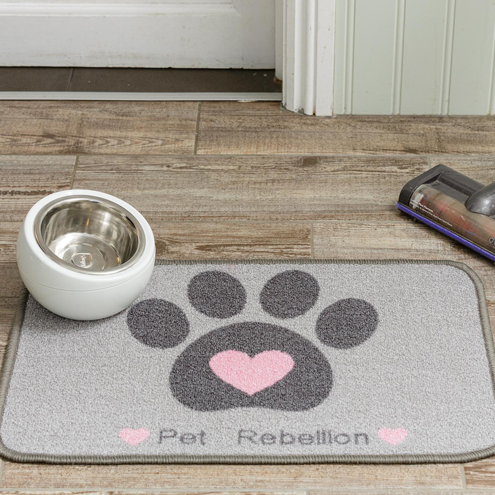 Pet Rebellion Dinner Mate Large Absorbent Pet Food Mat, Heart 40x60cm