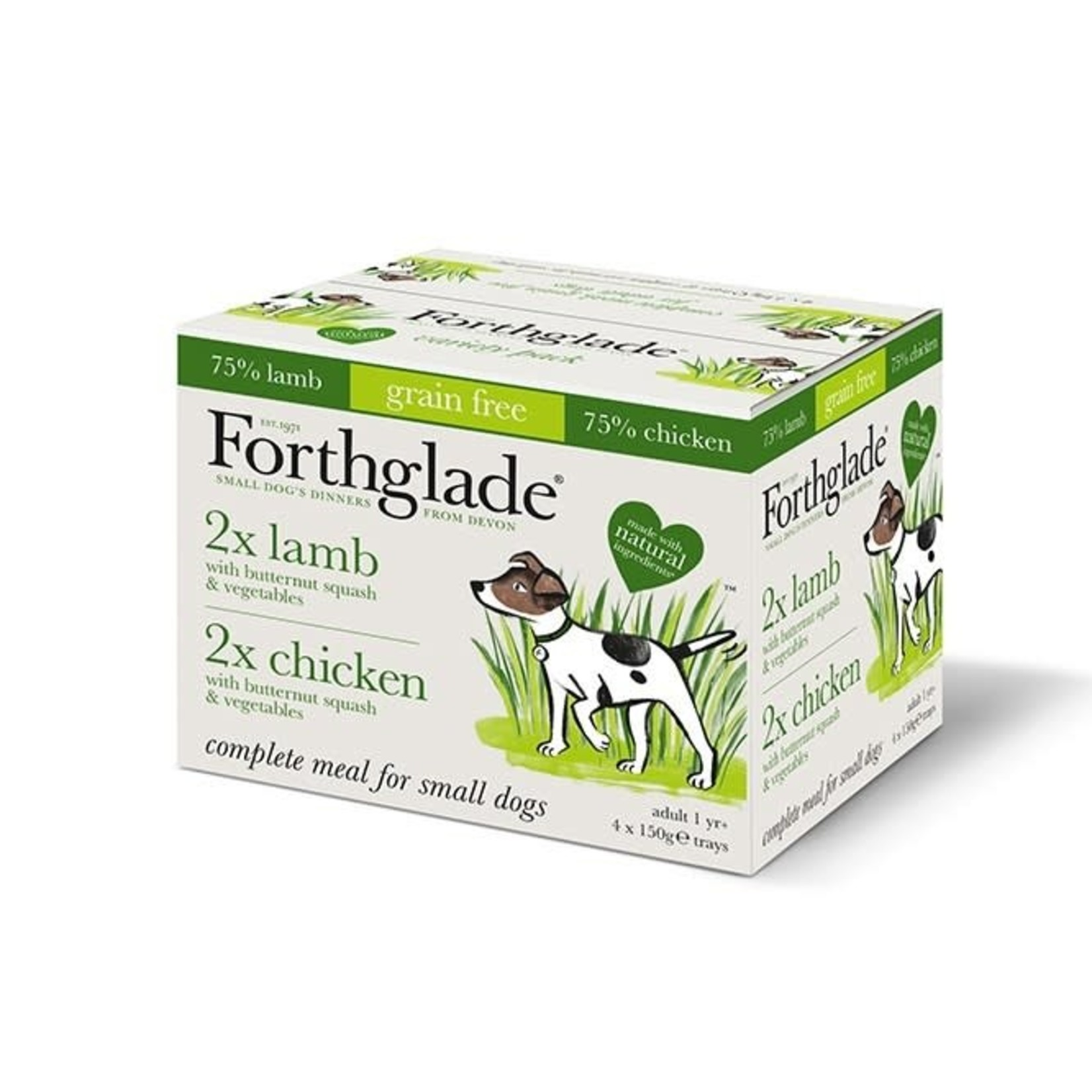 Forthglade Complete Grain Free Chicken & Lamb  Adult  Wet Dog Food, 150g, 4 pack