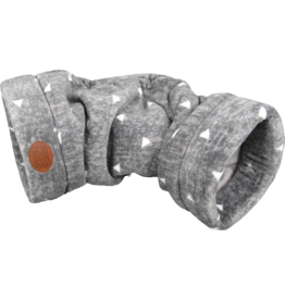 Snug & Cosy Grey Sparkle Cat Tunnel with Crackle 85 x 33 x 28cm