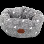 Snug & Cosy Grey Sparkle Deep Doughnut Dog Bed with Crackle, 42 x 26cm