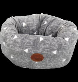 Snug & Cosy Grey Sparkle Deep Donut Dog Bed with Crackle 42 x 26cm
