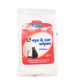 Johnsons Clean n Safe Eye & Ear Wipes 30 Wipes Sachet