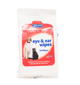 Johnsons Veterinary Clean n Safe Eye & Ear Wipes, 30 pack