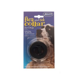 Johnsons Veterinary Dog Flea & Tick Collar,  One Size Fits All 65cm, Brown