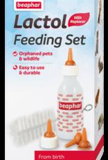 Beaphar Lactol Feeding Set with Bottle, 4 Teats, Brush