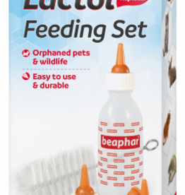 Beaphar Lactol Feeding Set with Bottle, 4 Teats, Brush