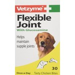 Vetzyme Flexible Joint with Glucosamine for Dogs, Chicken, 30 Tablets