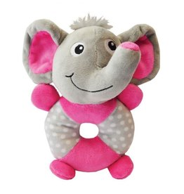 Happy Pet Little Rascals Play Ring Elephant Dog Toy