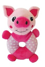 Happy Pet Little Rascals Play Ring Pig Dog Toy