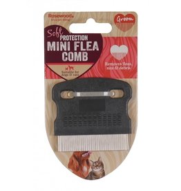 Rosewood Mini Flea Comb