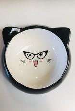Happy Pet Specs Ceramic Cat Bowl