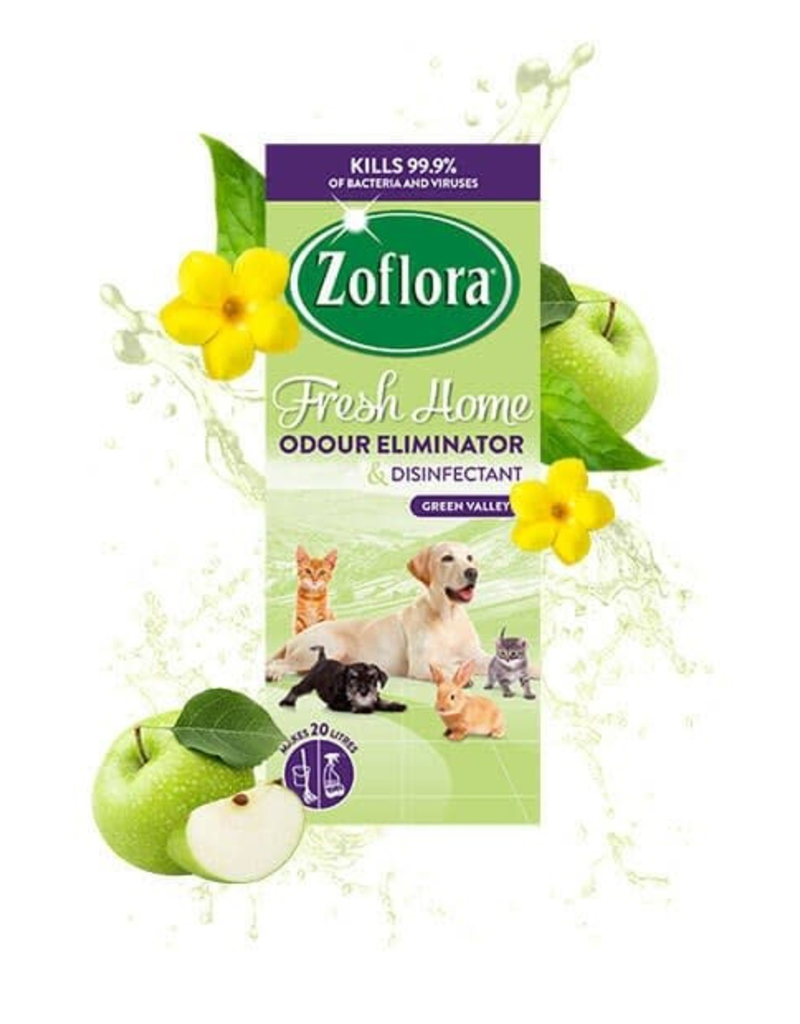 Zoflora Odour Remover & Disinfectant Green Valley Fragrance 500ml