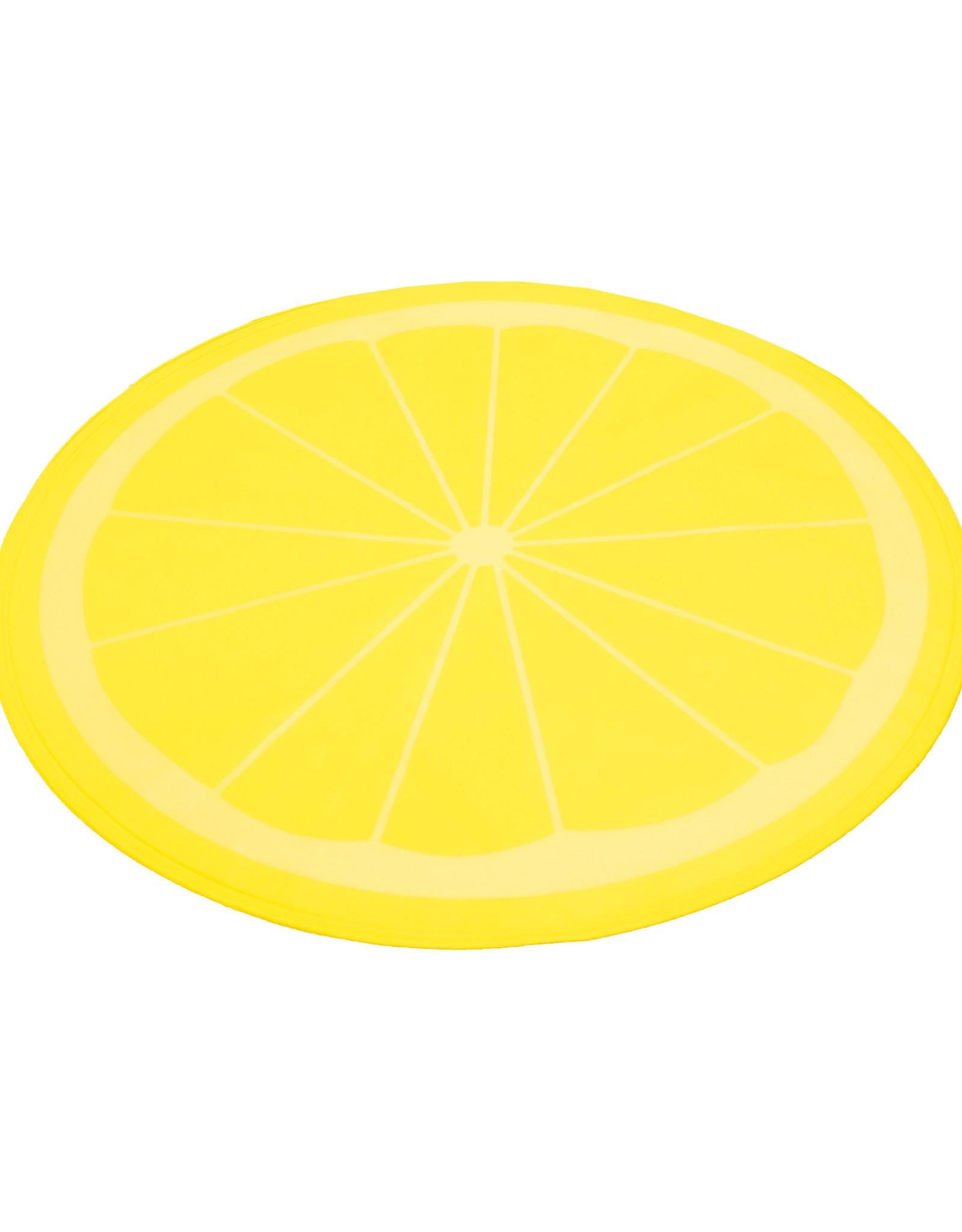 Rosewood Lemon Print Circular Pet Cool Mat