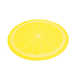Rosewood Lemon Print Circular Pet Cool Mat