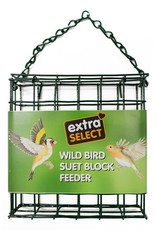 Extra Select Suet Block Feeder for Wild Birds, with Free Suet Block