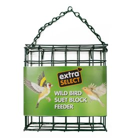 Extra Select Suet Block Feeder for Wild Birds, with Free Suet Block