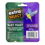Extra Select Suet Block for Wild Birds, with Mealworm 320g