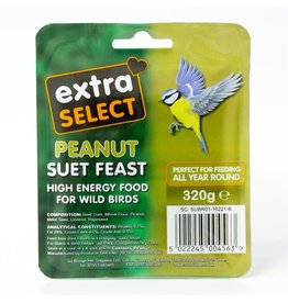Extra Select Suet Block for Wild Birds, with Peanut 320g