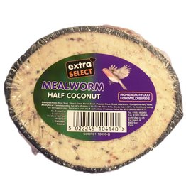 Extra Select Half Coconut with Mealworm for Wild Bird Feeding