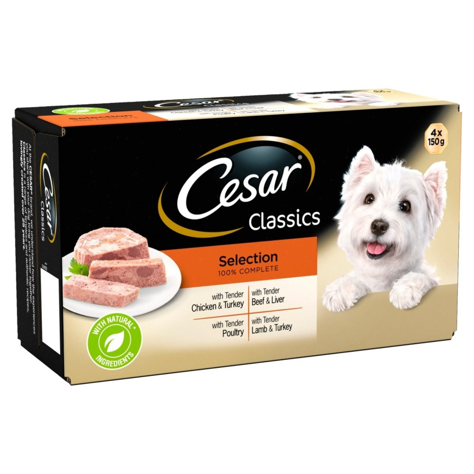 Cesar Adult Dog Wet Food Tray Classic Selection, 4 x 150g