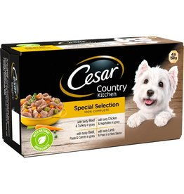 Cesar Adult Wet Dog Food Tray Country Kitchen Selection, 4 x 150g