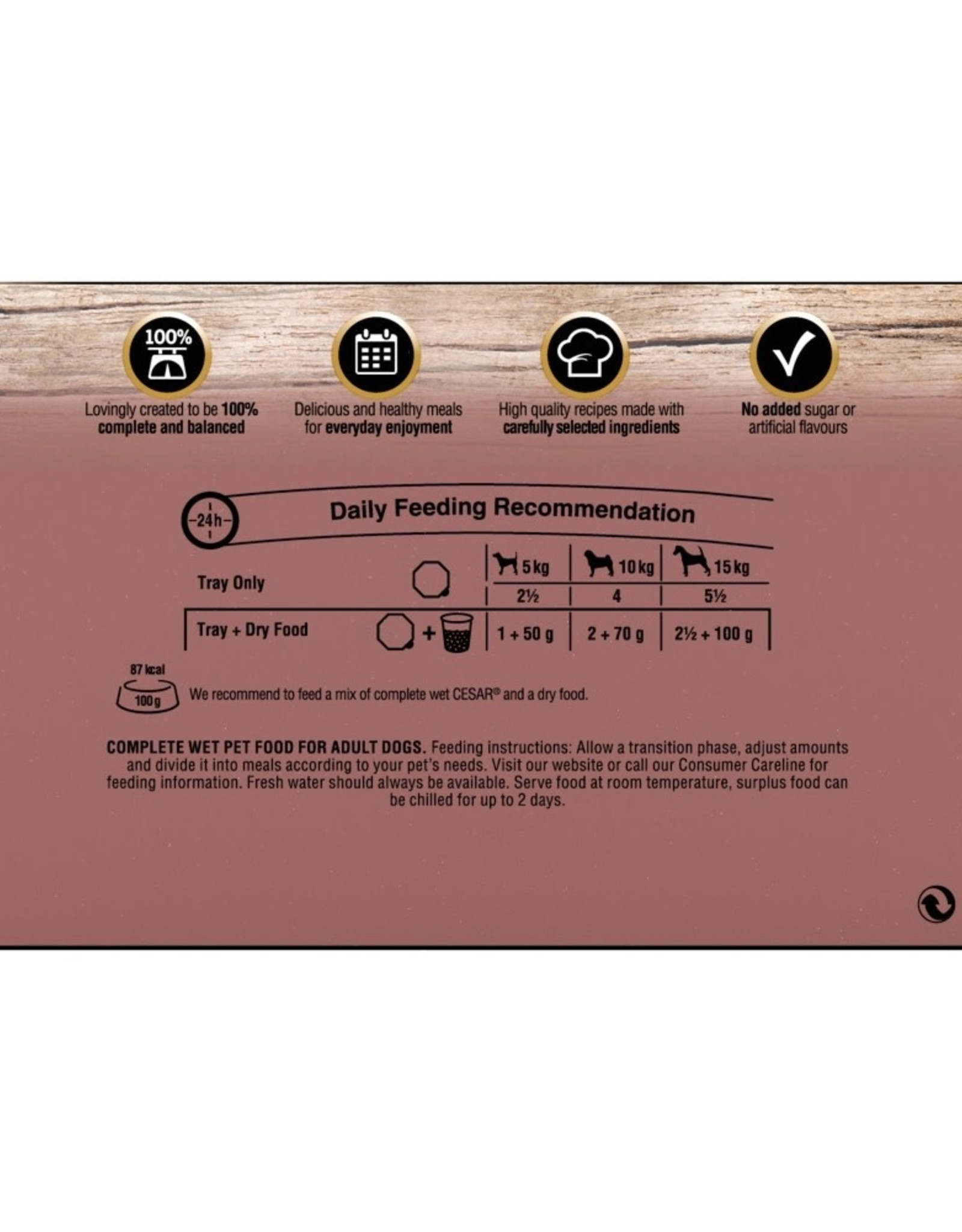 Cesar Adult Wet Dog Food Tray Country Kitchen Selection 4 x 150g