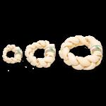 Farmfood Rawhide White Rawhide Dental Braided Donut Dog Chew, Medium 15-17cm