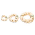 Farmfood Rawhide White Rawhide Dental Braided Doughnut Dog Chew, Medium 15-17cm