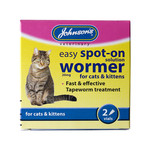 Johnsons Veterinary Easy Spot-On Wormer For Cats & Kittens 2 vials