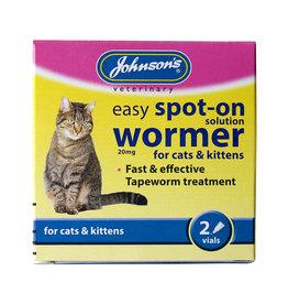 Johnsons Easy Spot-On Wormer For Cats & Kittens 2 vials
