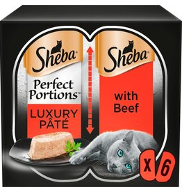 Sheba Perfect Portions Luxury Pate Adult Cat Wet Food with Beef, 6 x 37.5g