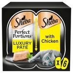Sheba Perfect Portions Luxury Pate Adult Cat Wet Food with Chicken, 6 x 37.5g