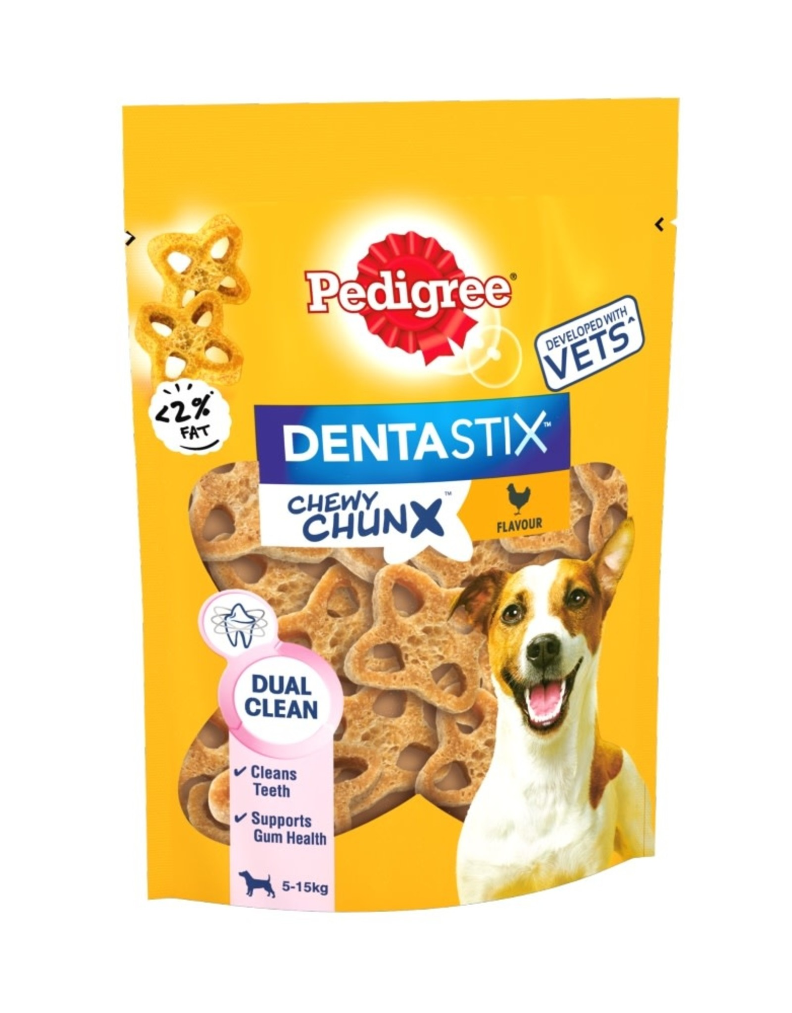 Pedigree Dentastix Chewy Chunx Mini Dog Treats Chicken Flavour 68g