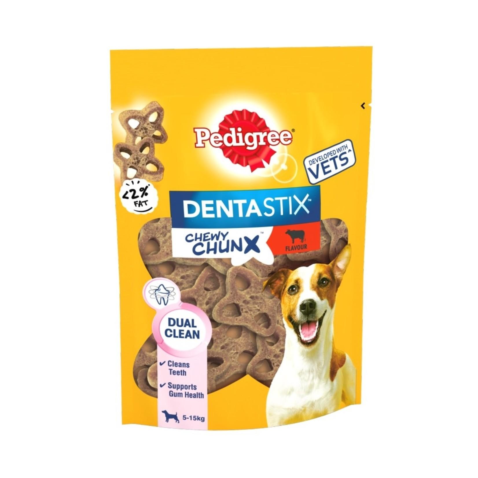 Pedigree Dentastix Chewy Chunx Mini Dog Treats Beef Flavour, 68g