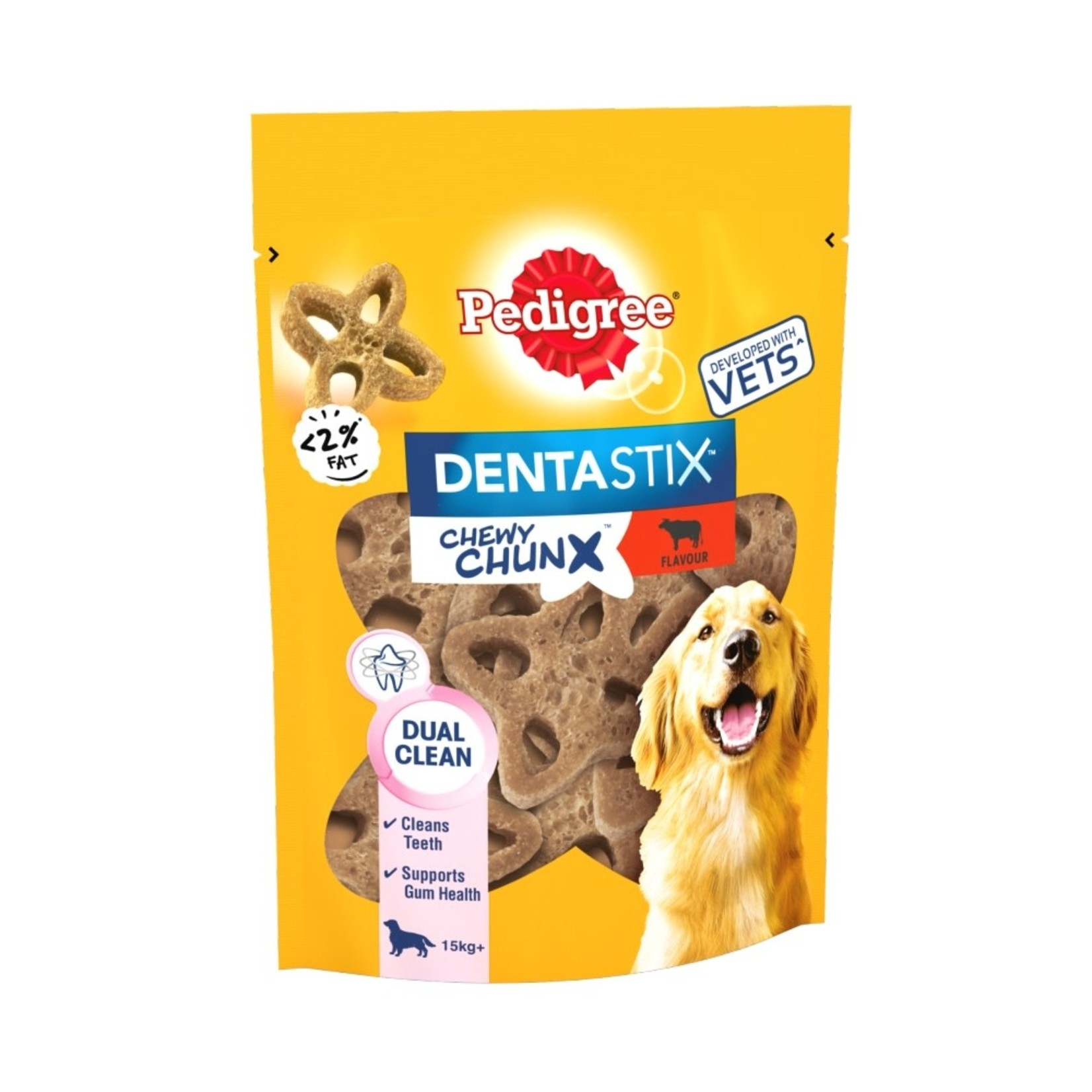 Pedigree Dentastix Chewy Chunx Maxi Dog Treats Beef Flavour, 68g