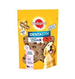 Pedigree Dentastix Chewy Chunx Maxi Dog Treats Beef Flavour, 68g