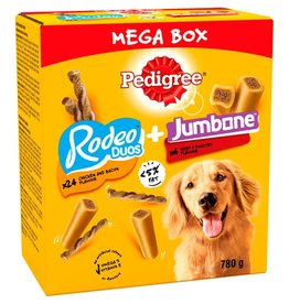 Pedigree Rodeo Duos and Jumbone Mega Box Dog Treats 780g