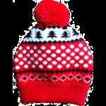 Animate Red & Black Snowflake Dog Bobble Hat