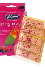 Johnsons Fruity Biscuits Treats with Egg & Wild Berries for Cage Birds
