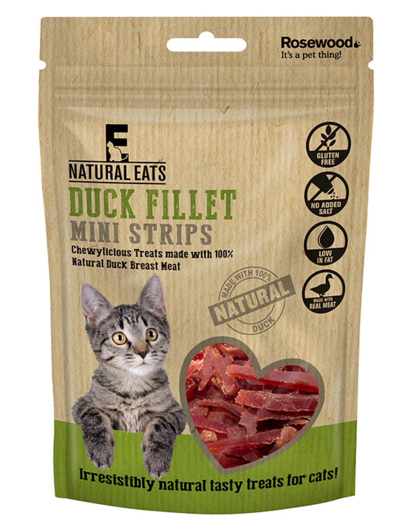 Rosewood Natural Eats Duck Fillet Mini Strips Cat Treats, 50g